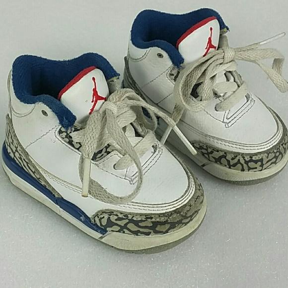 58e73d97fb63 Nike Air Jordan 3 Retro BT Shoes Size 4C White. M 5bfdc0cc3c98448c82310217